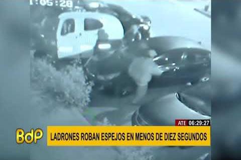 Delincuentes Roban Espejos de Auto en Menos de Diez Segundos - Judicial