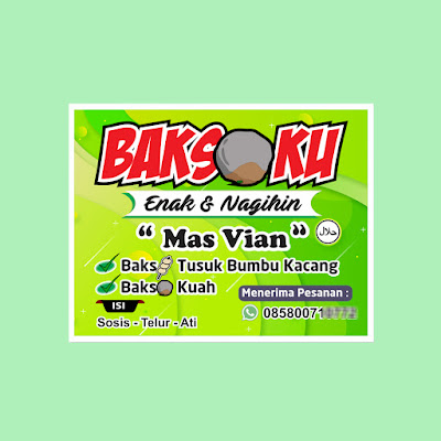 Banner Jualan Bakso