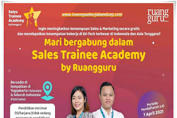 Lowongan Sales Trainee Ruang Guru