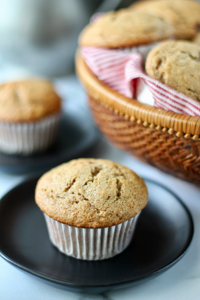Cinnamon Applesauce & Raisin Rye Muffins