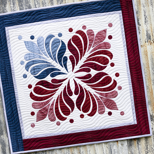 Red, White & Blue Mini Quilt Designed by Cherry Guidry of Cherry Blossoms for WeallSew