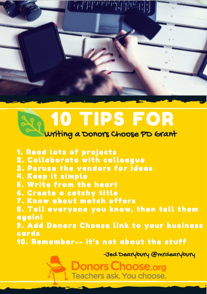 Donors Choose YOU - Top 10 Tips to Fund Your Project - EdTechTeam