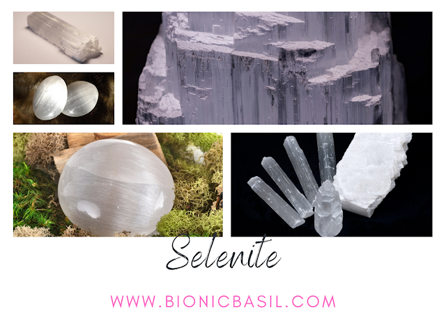 Colouring with Cats ©BionicBasil® Crystal of The Week - Selenite