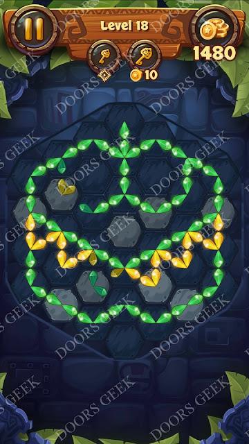 Gems & Magic [Aquamarine] Level 18 Solution, Walkthrough, Cheats