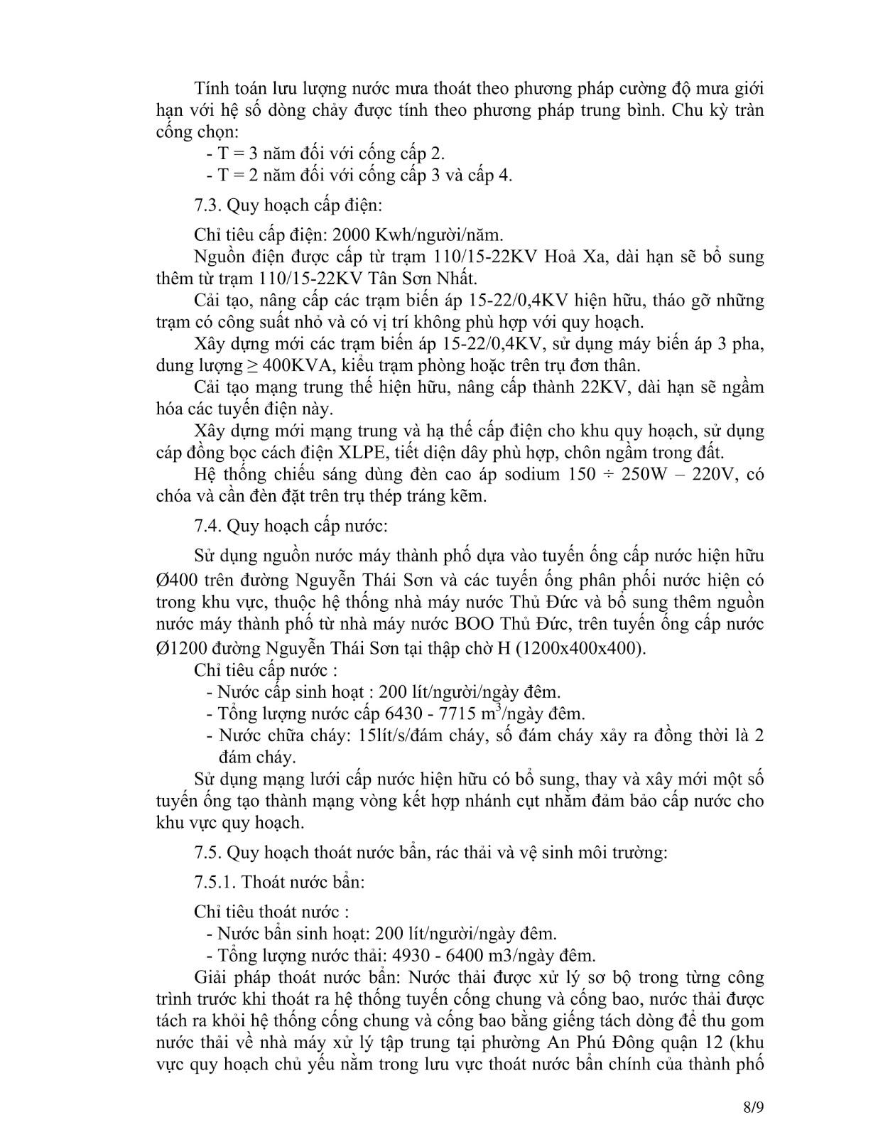 Quyết Định Số 2921/QĐ-UBND Quy Hoạch Khu Dân Cư Phường 4 Quận Gò Vấp Tờ 8