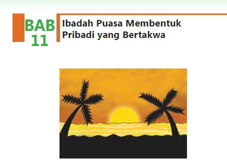 Jawaban Mapel Agama Islam Kelas 8 BAB 11 Ibadah Puasa Membentuk Pribadi yang Bertakwa