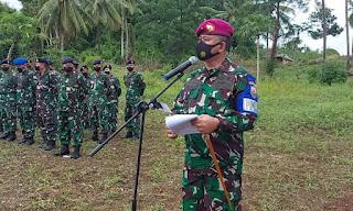 Danlantamal  VIII Buka Latihan Tempur Darat