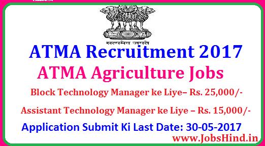 ATMA Recruitment 2017