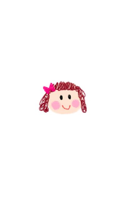 Cute girl x flower