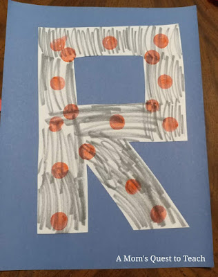 letter R redstone craft