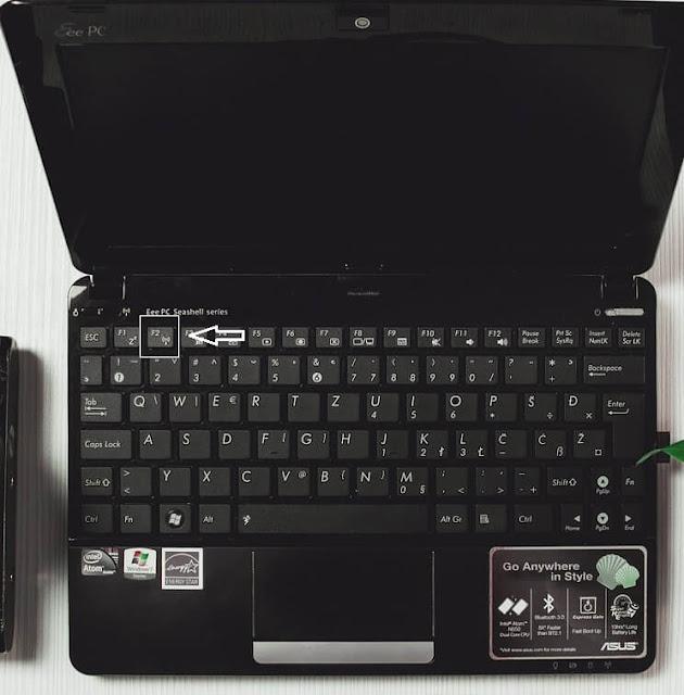 cara aktifkan wifi dengan keyboard
