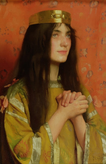 Thomas Cooper Gotch - La Reine Clothilde