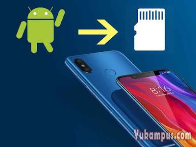 cara memindahkan aplikasi ke SD Card Xiaomi redmi