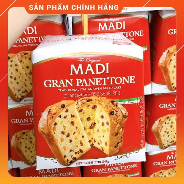 Bánh Madi Gran Panettone 1kg truyền thống của Ý 2
