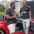 PATORANKING Visits Timaya With His New Porsche - Picture