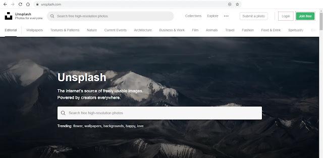 موقع أنسبلاش Unsplash لتحميل الصور مجانا - وظائف ناو