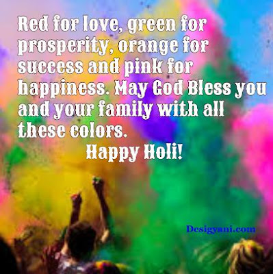 Red for love, Happy Holi