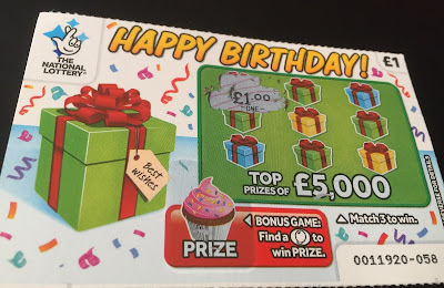 £1 Happy Birthday Scratch Card
