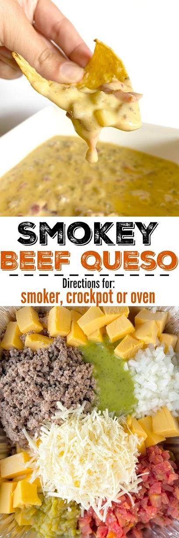 Smokey Beef Queso #ad #iowabeefcouncil