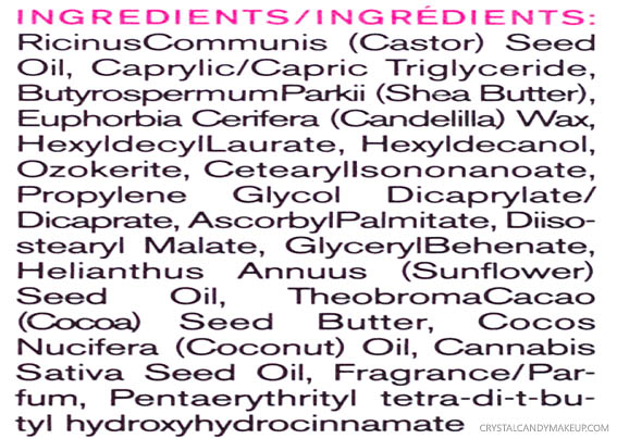 Delectable by Cake Beauty The Everything Balm Ingredients