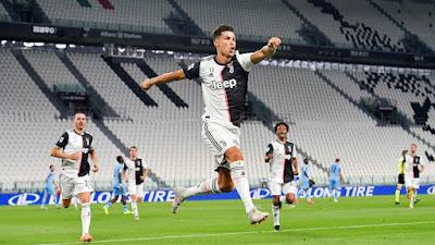 Jeventus Kalahkan Lazio 2-1, Cristiano Ronaldo Cetak Rekor Baru
