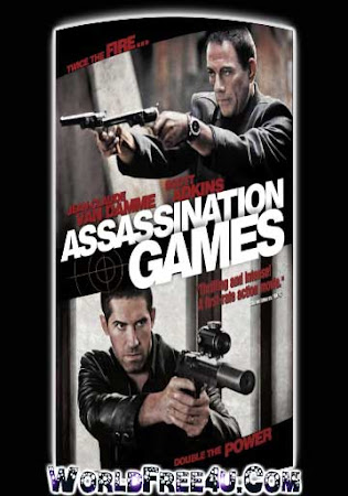 Poster Of Assassination Games In Dual Audio Hindi English 300MB Compressed Small Size Pc Movie Free Download Only At worldfree4u.com