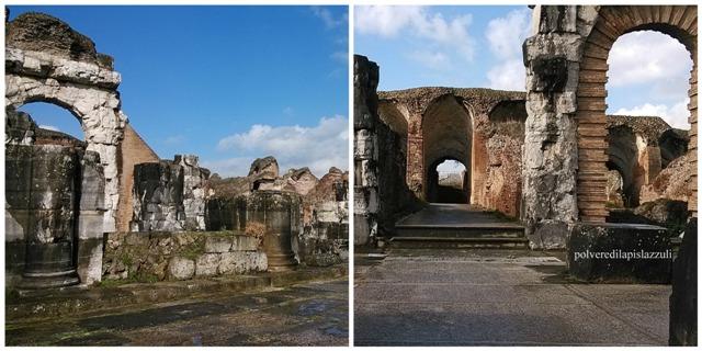 particolari architettonici dell'anfiteatro capuano dove combatté Spartaco