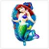 Balon Foil Karakter Mermaid Baru