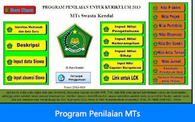 Program Penilaian Jenjang MTs