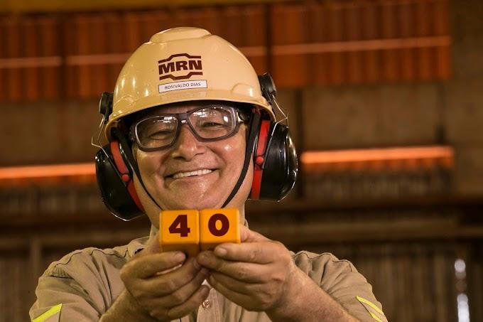Empregado completa 40 anos de trabalho em mineradora paraense
