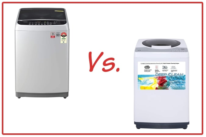 LG T80SJSF1Z (left) and IFB REW (right) Washing Machine Comparison.