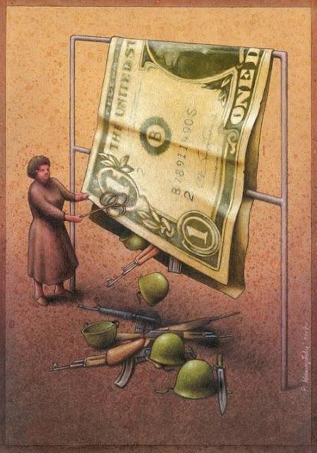 para savaş karikatür