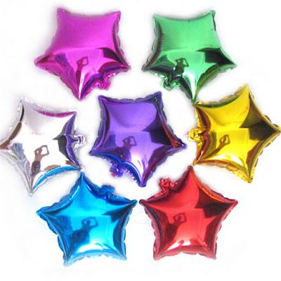 Balon Foil Bintang Mini