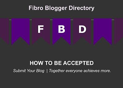 Fibro Bloggers Directory acceptance in