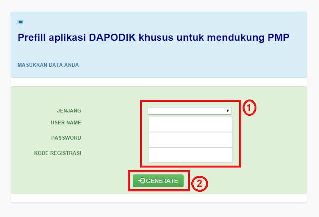 Unduhan Prefill Aplikasi Dapodikdasmen Untuk Menjalankan Aplikasi PMP 2018