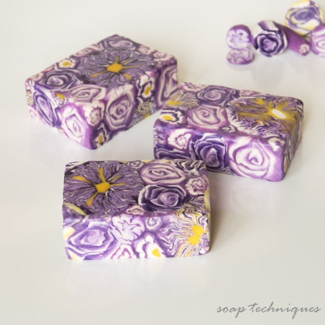 soap flower canes - out of CP soap dough