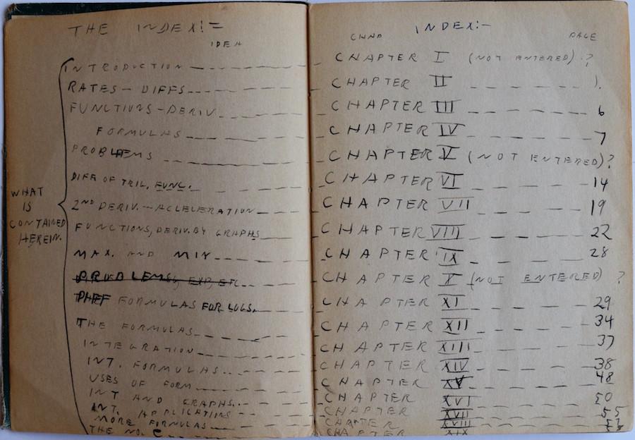 Richard Feynman's notes calculus