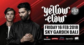 cari tiket event yellow claw at sky garden bali