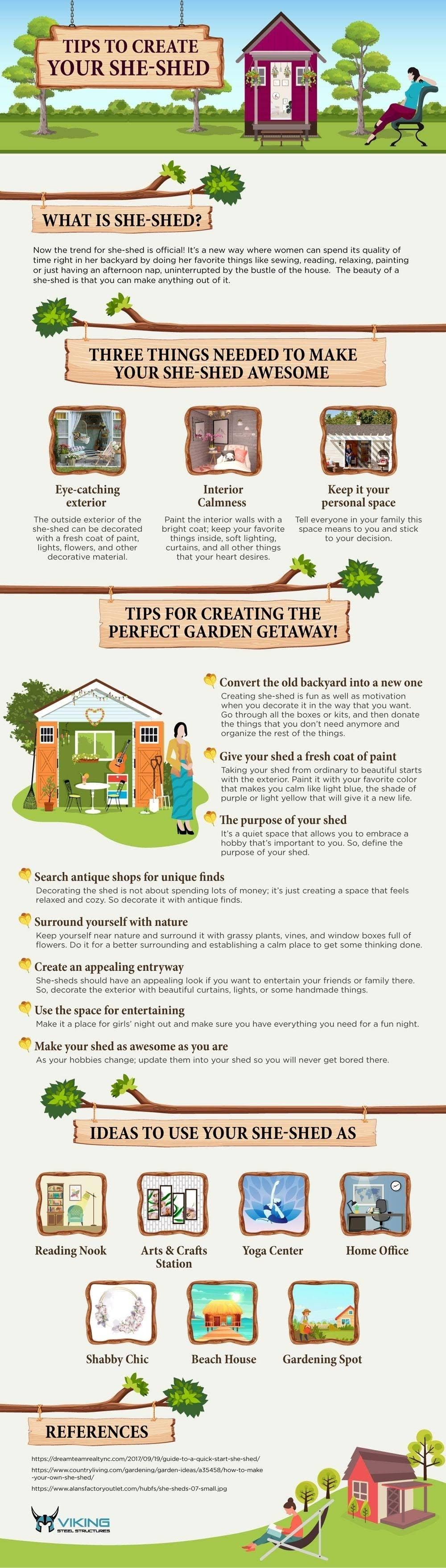 Tips for creating your shed #infographic