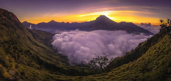 Trekking Mount Rinjani package 2 days 1 nights start climb from Sembalun
