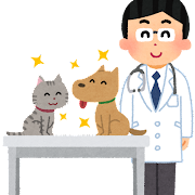 獣医のイラスト(男性)