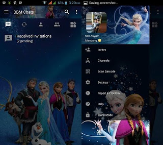 BBM Mod Frozen v3.2.5.12 Terbaru 2017