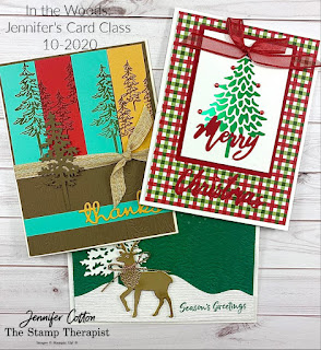 Three cards with Stampin' Up!'s In the Woods Bundle!  Video and supply list on the blog!  #StampinUp #StampTherapist