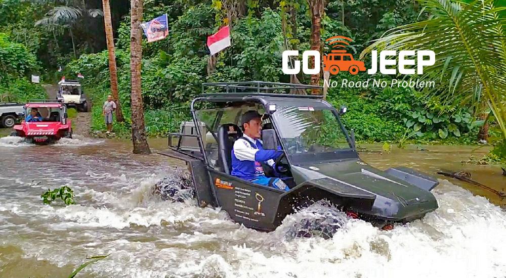 jajal keseruan fun offroad di Pangandaran dengan mobil fin komodo