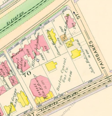 1913 Map showing location of the Brandon Garage