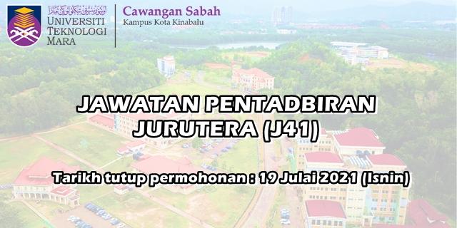 Kekosongan Jawatan Pentadbiran Jurutera (J41) di UITM SABAH