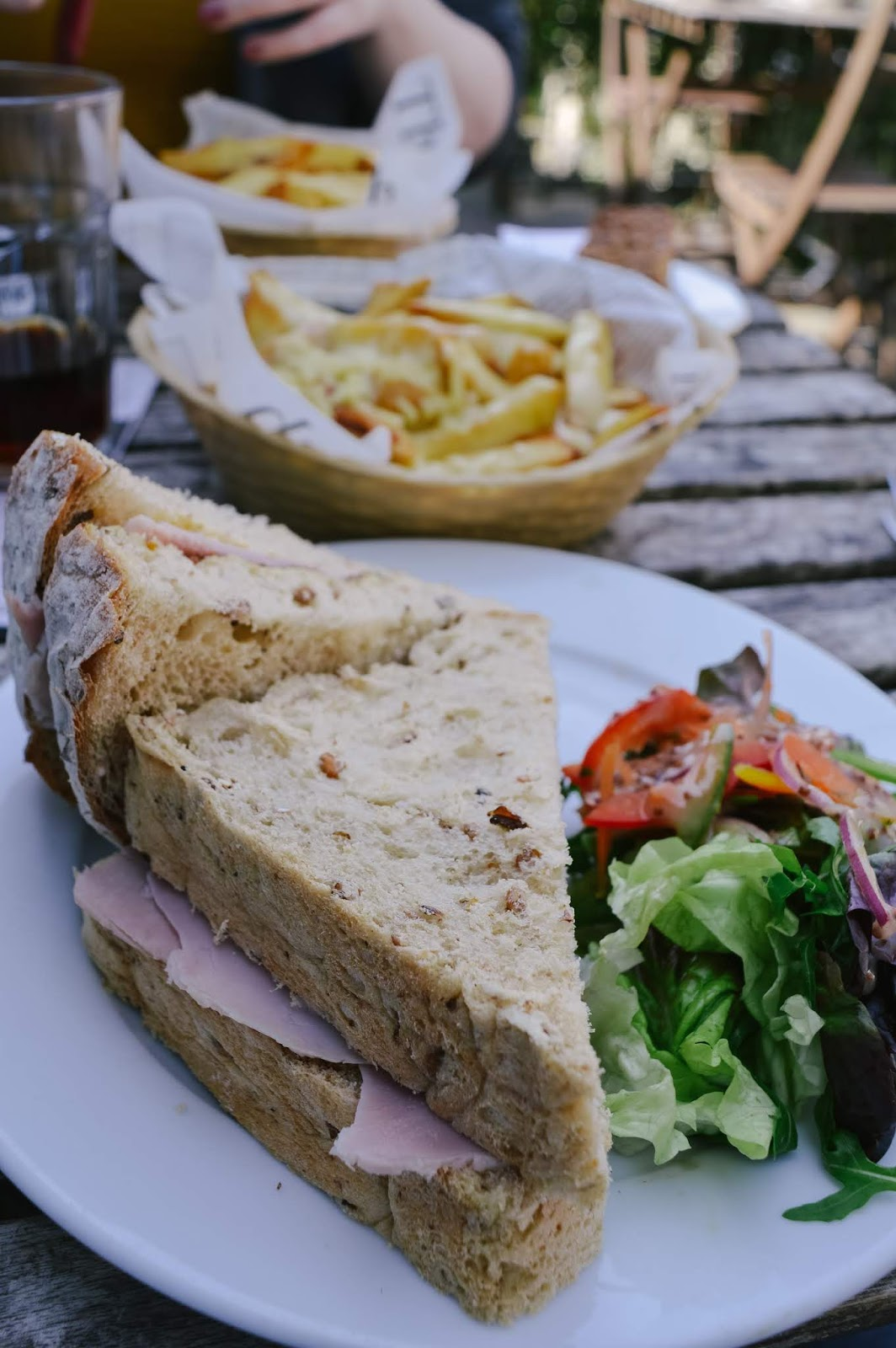 Sandwich at The Little Lion Tearooms Cheddar