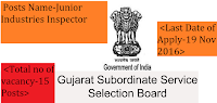 Gujarat Subordinate Service Selection Board 2017