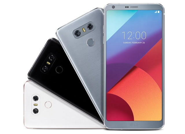 LG G6 Smartphone in three colors