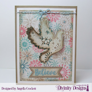 Stamp Set: Keep Christ, Custom Dies: Christmas Dove, Inspiration Words, Pierced Rectangles, Double Stitched Rectangles, Double Stitched Pennant Flags, Pennant Flags, Paper Collection: Christmas 2014